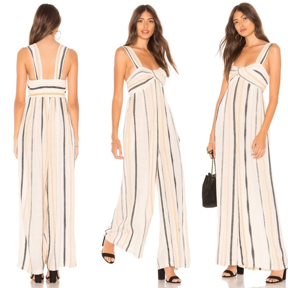 0cd233a3852c Free People Pants - Free People Breezin Through Stripe Jumpsuit